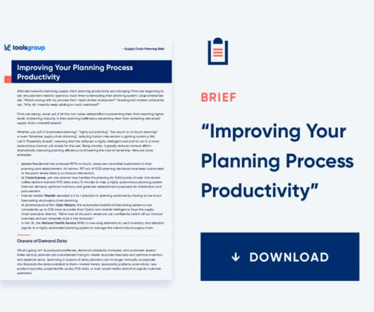 Inventory and Supply Chain Planning - Supply Chain Brief